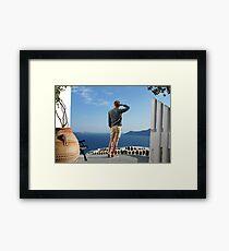 Greek paradise Framed Print