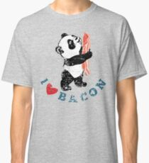I Love Bacon - Panda Classic T-Shirt