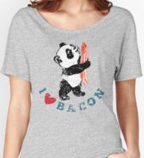 I Love Bacon - Panda Women's Relaxed Fit T-Shirt