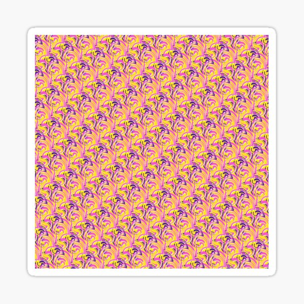 Geometric Colourful Psychedelic Ripple Pattern Sticker