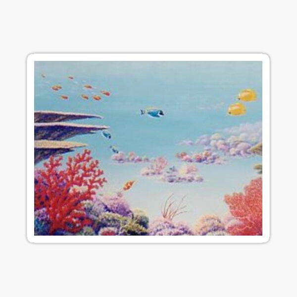 """""""Coral Garden - Great Barrier Reef"""" Sticker"""