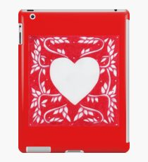 Red Ink Heart iPad Case/Skin