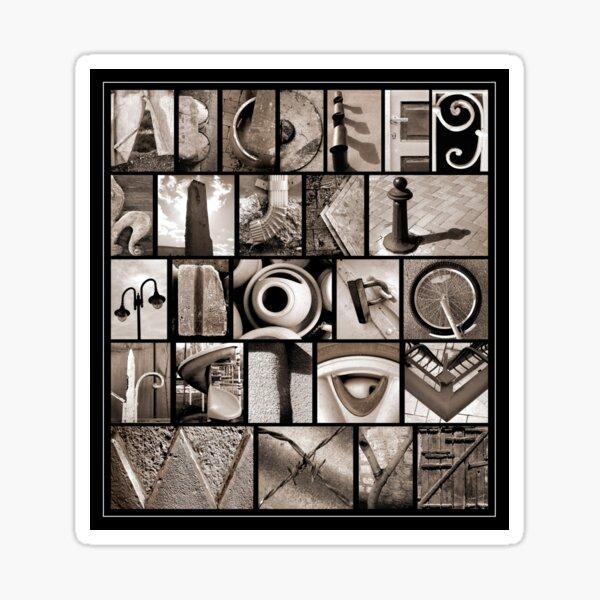Alphabet Monochrome Print Sticker