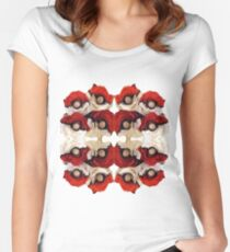 Pokeball Roses Women's Fitted Scoop T-Shirt