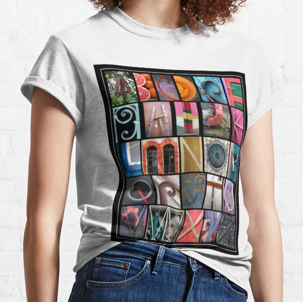 Coloured Alphabet Print Classic T-Shirt