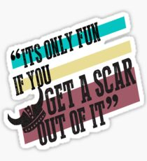 How To Train Your Dragon Quote Tee Sticker