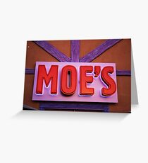 Vaccation Photography - Moe's Tavern Greeting Card
