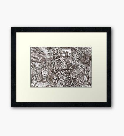 Dark dreaming Framed Print