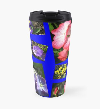 Blumen-Power-Collage Thermosbecher