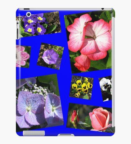 Blumen-Power-Collage iPad-Hülle & Klebefolie