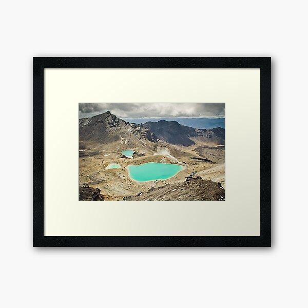 Emerald Lakes Framed Art Print