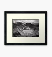 Volcanic Monochrome Zone Framed Print