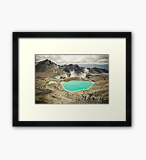 The Emerald Lakes  Framed Print