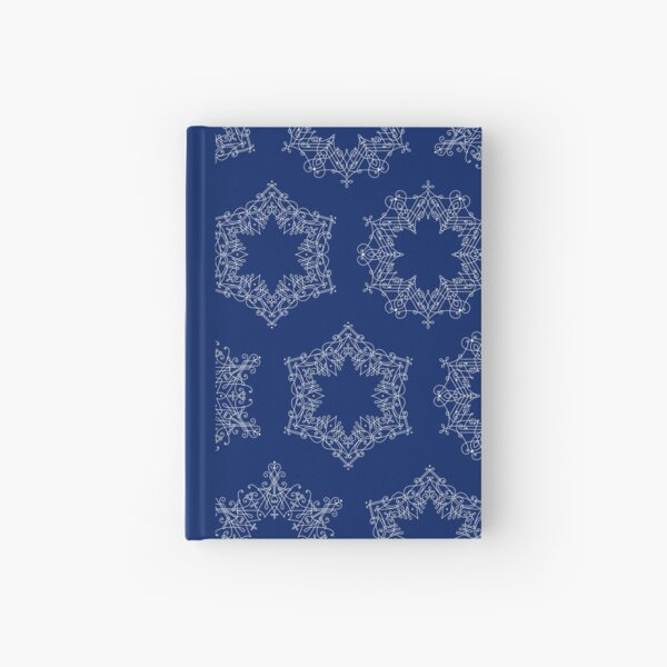 Delicate Snowflakes Hardcover Journal