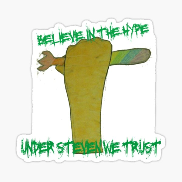 ATG stevens believe in the hype spork t shirt Sticker
