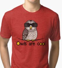 Owls are Cool by Birdorable Tri-blend T-Shirt