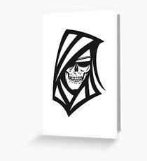 Death hooded sweatshirt creepy sunglasses Greeting Card