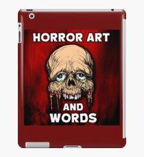 HORROR ART AND WORDS  iPad Case/Skin