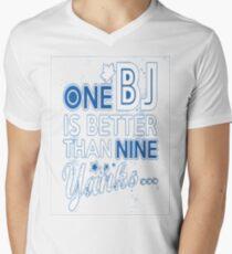 BJ is better than a Yank Men's V-Neck T-Shirt