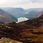 Buttermere and Crummock Water, Lake District, UK by GeorgeOne