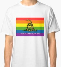 Camiseta clásica Bandera del Orgullo Gay de Gadsden