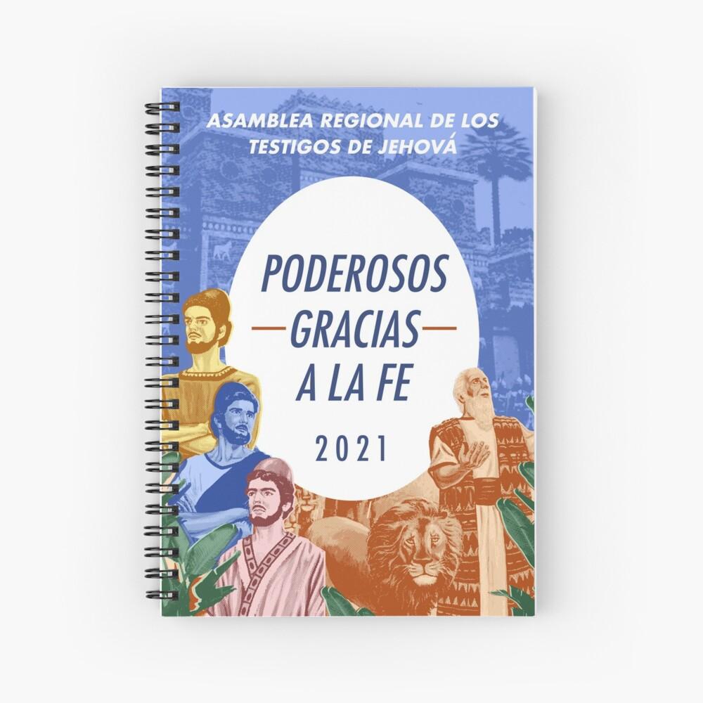 PODEROSOS GRACIAS A LA FE Spiral Notebook