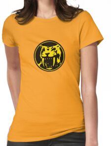 Mighty Morphin Power Rangers Yellow Ranger Symbol Womens Fitted T-Shirt