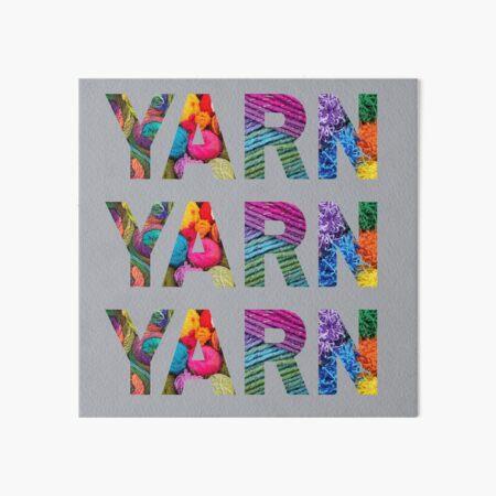 World Of Yarn Art Board Print