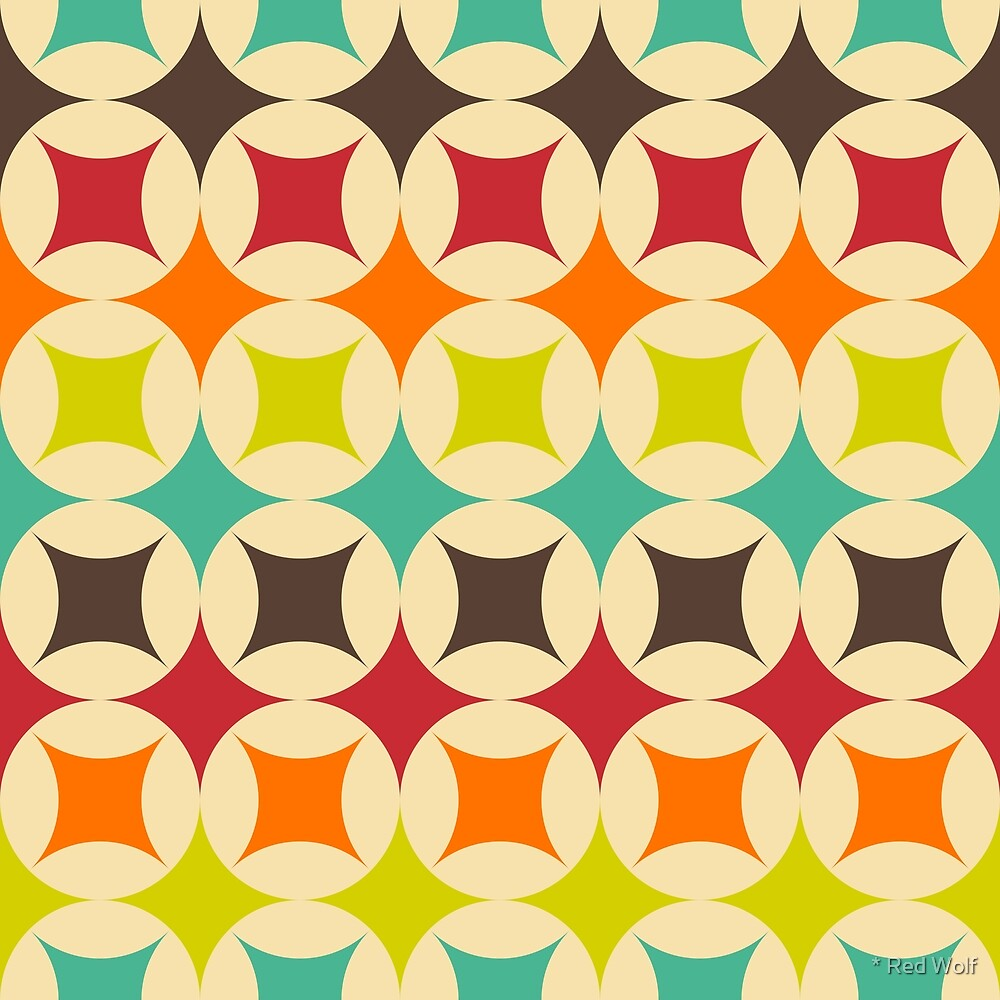 Geometric Pattern: Circle Stacked: Rainbow by * Red Wolf