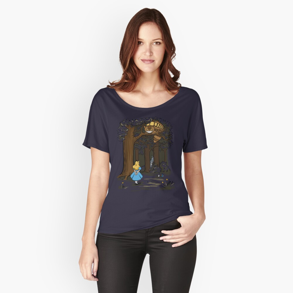 My Neighbor in Wonderland (Army) Women's Relaxed Fit T-Shirt Front