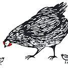 Mother Hen by Julia  Raath
