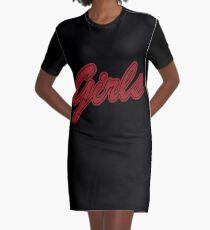 Mädchen (rot) T-Shirt Kleid