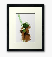 The Green Warrior Framed Print