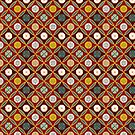 Red Egyptian tiles by Aakheperure