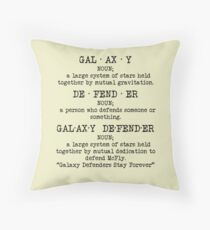 McFly - Galaxy Defender Pillow Throw Pillow