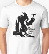 Funny alien monster Mr. Break it Fix it handyman Unisex T-Shirt