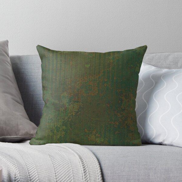 Green rust Throw Pillow