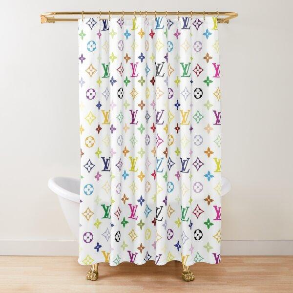 Louis V Pattern Shower Curtain
