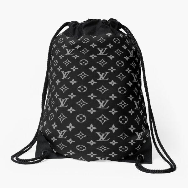 Louis V Pattern Drawstring Bag
