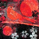 "Red Moon Bird by Belinda ""BillyLee"" NYE (Printmaker)"