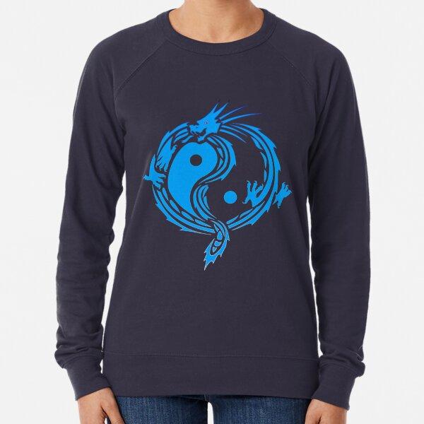 Blue Yin Yang Dragon Lightweight Sweatshirt
