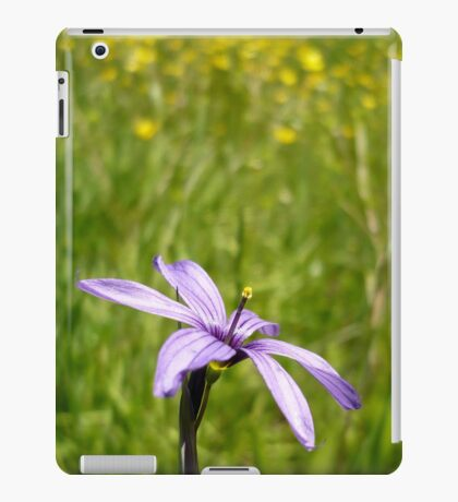 Blue Eyed Grass and Buttercups iPad Case/Skin
