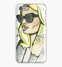 70s chick style illustration  iPhone Case/Skin