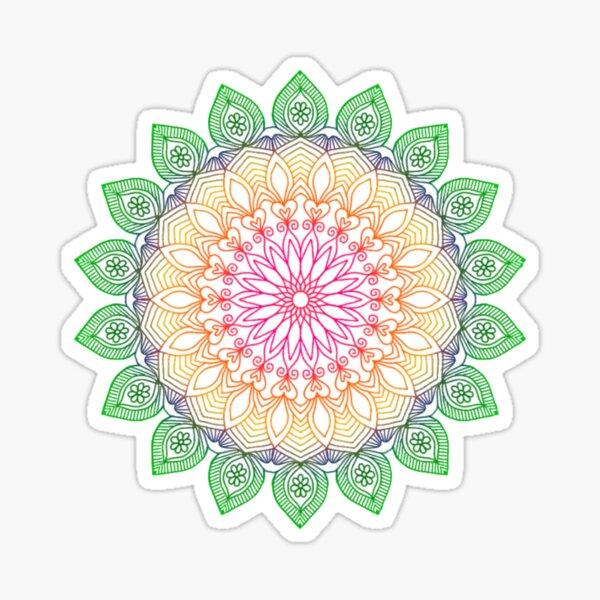 Colorful mandala Sticker