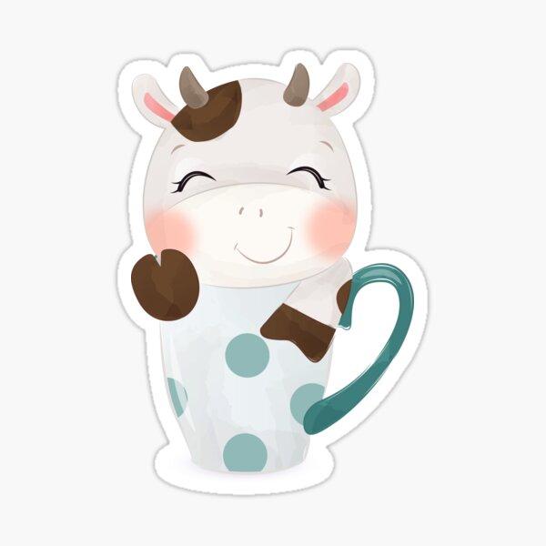 Cutie Teacup Cow Sticker