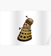 Dalek x French Bulldog Poster