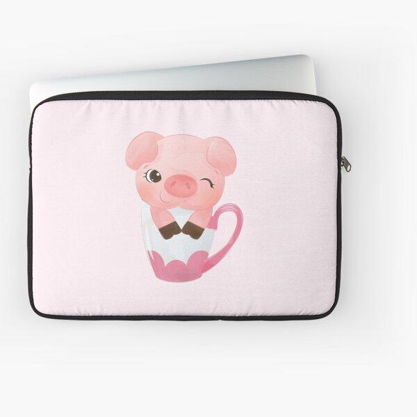 Cutie Teacup Pig Laptop Sleeve