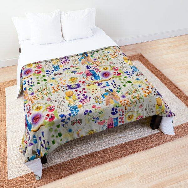 Painted flowers collage Comforter