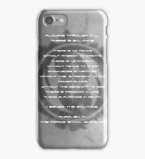 The Gray Jedi Code  iPhone Case/Skin