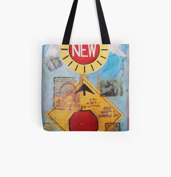 New Stop All Over Print Tote Bag